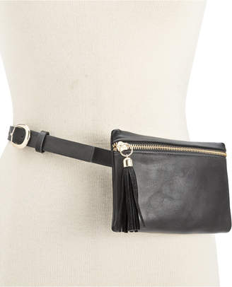 INC International Concepts Tassel Zip Fanny Pack, Only at Macy's $44.50 thestylecure.com