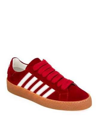 DSQUARED2 Men's Side-Stripe Suede Low-Top Sneakers