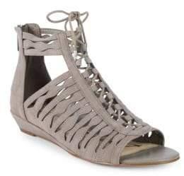 Sam Edelman Daleece Strappy Suede Flat Sandals
