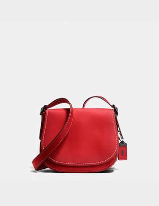 Coach Burnished Glovetan leather Saddle 23 bag