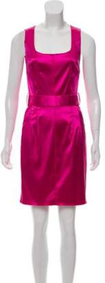 Dolce & Gabbana Sleeveless Sheath Dress Pink Sleeveless Sheath Dress