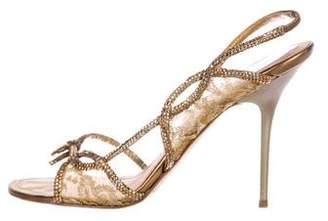 Rene Caovilla Strass Slingback Sandals
