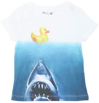 MC2 Saint Barth Ducky Jaws Print Cotton Jersey T-Shirt