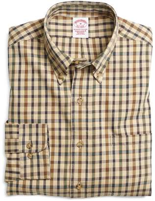 Brooks Brothers BrooksFlannel Regular Fit Bold Check Sport Shirt