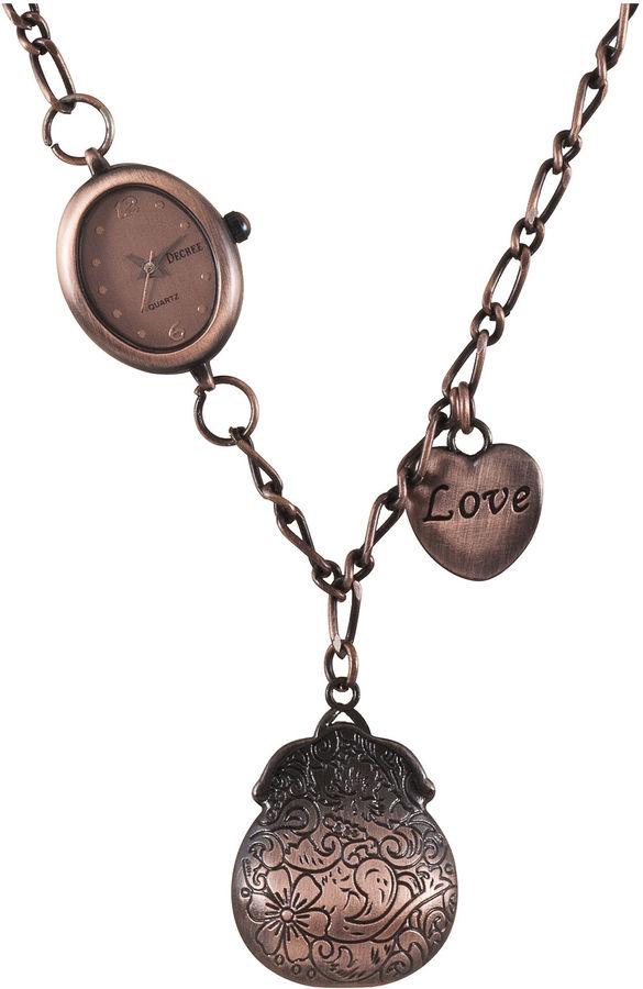 JCPenney Decree Charm Pendant Necklace Watch