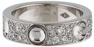 Louis Vuitton 18K Diamond Empreinte Ring