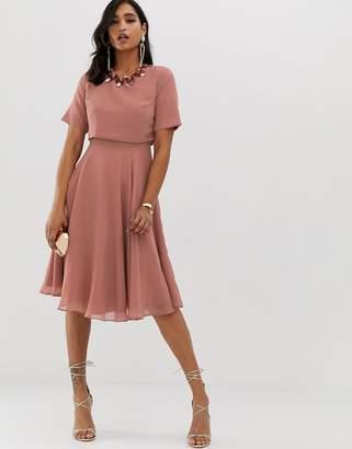 c6b3ae1706e Asos Maternity Dress With Embellishment - ShopStyle UK
