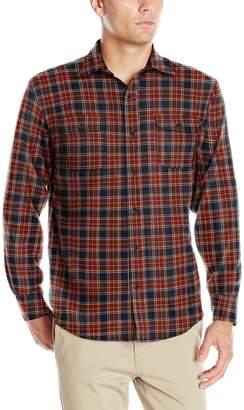 Izod Men's Long Sleeve Saltwater Twill Easy Care Plaid Shirt