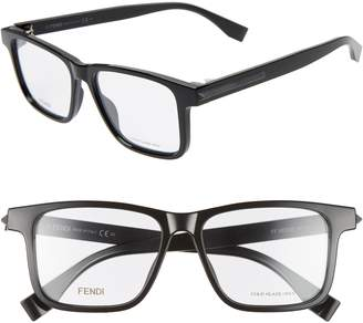 Fendi 53mm Square Optical Glasses