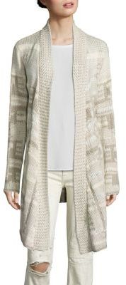 Polo Ralph Lauren Silk-Blend Open-Front Cardigan $998 thestylecure.com