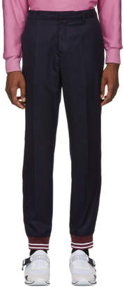 Kenzo Blue Wool Lounge Pants