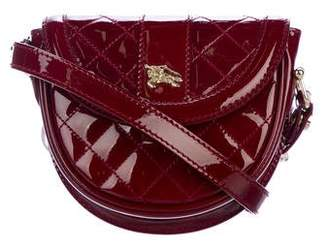 Burberry Quilted Patent Mini Crossbody Bag