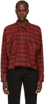 Etoile Isabel Marant Red Delora Flannel Shirt