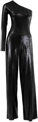 Me&Thee Come On Down Black Sequin Jumpsuit