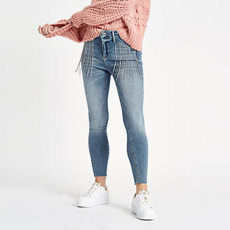 River Island Womens Petite Molly embellished Jeans