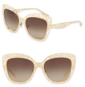 Dolce & Gabbana 56MM Metal Butterfly Sunglasses $410 thestylecure.com