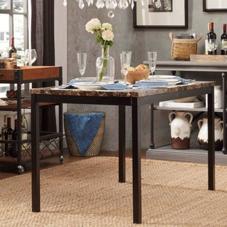 Weston Home Chelsea Lane Declan Metal Counter Height Table with Faux Marble Top
