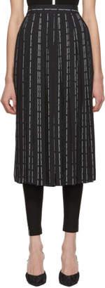 Off-White Black Pinstripe Plisse Pants Skirt