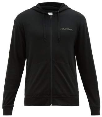 Calvin Klein Underwear Zip Through Hooded Sweatshirt - Mens - Black