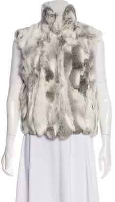 Adrienne Landau Sleeveless Fur Vest