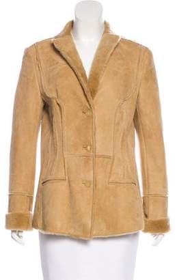 Narciso Rodriguez Suede Button-Up Jacket