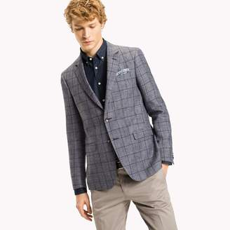 Tommy Hilfiger Windowpane Check Slim Fit Blazer