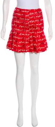 Piamita Printed Mini Skirt