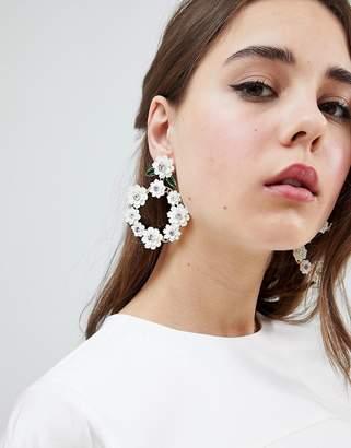 Johnny Loves Rosie 3D Floral Statement Earrings