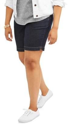 Terra & Sky Womens Plus 2 Pocket Pull On Short