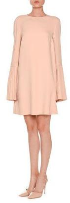 Stella McCartney Pleated Bell-Sleeve Swing Dress, Rose $1,645 thestylecure.com