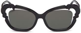 Linda Farrow Cutout acetate cat eye sunglasses