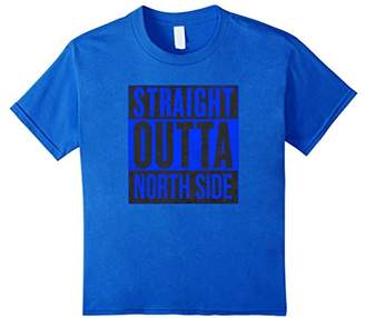 STRAIGHT OUTTA NORTH SIDE Chicago Blue T Shirt