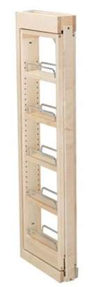 Rev-A-Shelf RS432.WF36.6C 6 in. W x 36 in. H Wall Filler Pull Out Wood