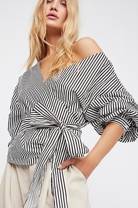 Madeline Wrap Top by Style Mafia at Free People $98 thestylecure.com