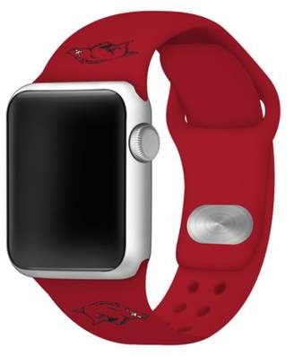 Affinity Bands Arkansas Razorbacks 42mm Silicone Sport Band for Apple Watch - Red