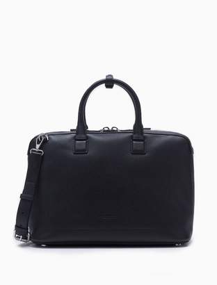 Calvin Klein engineered casual micro pebble leather satchel