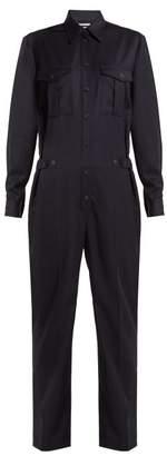 Pallas X Claire Thomson Jonville X Claire Thomson-jonville - Daytona Straight Leg Wool Jumpsuit - Womens - Navy
