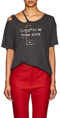 "R 13 Women's ""I Used To Be Punk Rock"" Cotton-Cashmere T-Shirt"
