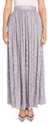 Giorgio Armani Women's Crinkled Maxi Skirt - Lilac - Size 42 (6)