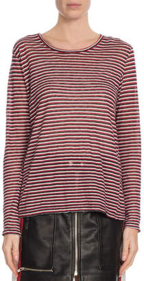 Etoile Isabel Marant Kaaron Striped Long-Sleeve Tee