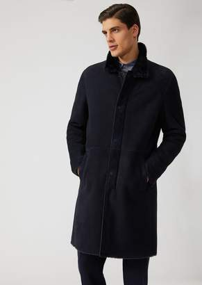 Emporio Armani Suede Lambskin Coat