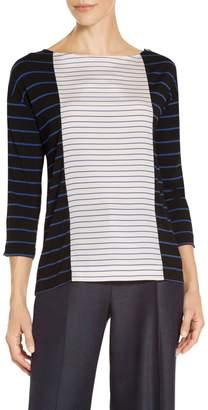 St. John Yarn Dyed Stripe Jersey T-Shirt