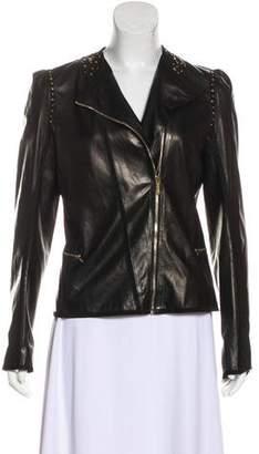 Fendi Embellished Leather Jacket