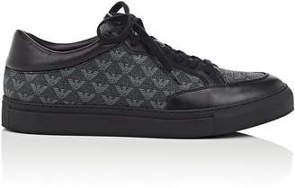 Emporio Armani Men's Logo-Print Canvas & Leather Sneakers