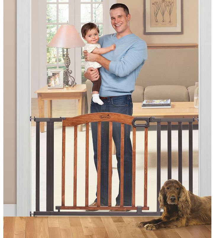 Summer Infant Stylish & Secure Wood & Metal Expansion Gate
