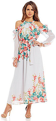 Gianni Bini Amani Cold Shoulder Floral Maxi Dress $139 thestylecure.com