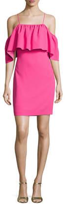 Trina Turk Cold-Shoulder Popover Sheath Dress $298 thestylecure.com