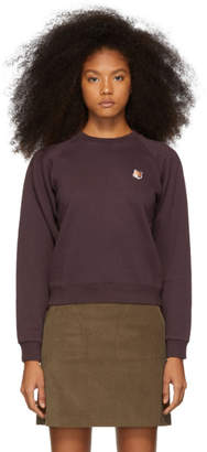 MAISON KITSUNÉ Purple Fox Head Patch Sweatshirt