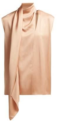 Joseph Birley Draped Satin Crepe Blouse - Womens - Pink