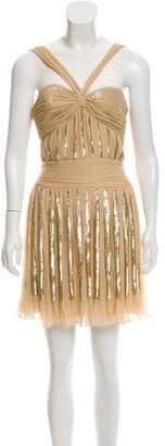Elie Saab Silk Sequin Mini Dress